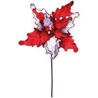 Flor Artificial Decoraçáo Natal 1 Unidade Poinsetia Vermelha