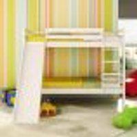 Beliche Infantil Teen Play Com Escorregador - Laqueado E Madeira Maciça - Branco Lavado - Casatema