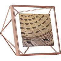 Porta Retrato Prisma Quadrado 10X10 Cobre
