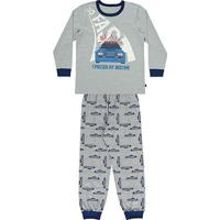 Pijama Infantil Longo Boca Grande Estampa Carro Masculino - Masculino-Mescla