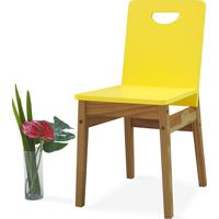 Cadeira Para Cozinha Tucupi 40X51X81Cm - Acabamento Stain Nozes E Amarelo