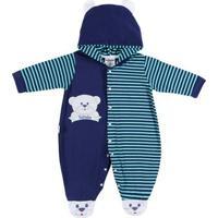 Macacão Infantil Para Bebê Menino - Azul Marinho