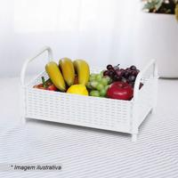 Fruteira De Mesa Decorativa- Branca- 16X35X22,5Cm