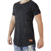 Camiseta Longline Fit Training Brasil Masculina - Masculino-Preto