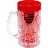 Caneca Congelante 370Ml Flamengo - Unissex-Vermelho