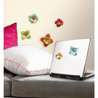 Adesivo De Parede Flores Coloridas 3D