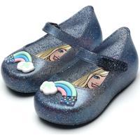 Sapatilha Barbie Rainbow Baby Azul