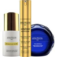 Kit Solução Antirrugas Global Anna Pegova - Anti-Idade Firmador Akinésine Ah 25Ml Sérum Anti-Idade Sublime 25Ml Creme Noturno Pegoretinol 40Ml