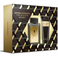 Kit Antonio Banderas The Golden Secret Masculino Eau De Toilette + Pós Barba