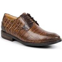 Sapato Masculino Derby Sandro Moscoloni Croco Marteen Marrom Brown