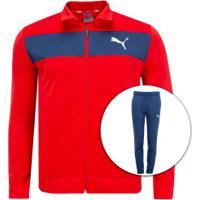 Agasalho Puma Techstripe Tricot Suit Cl - Masculino - Vermelho