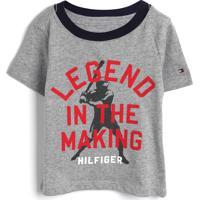Camiseta Tommy Hilfiger Kids Menino Escrita Cinza