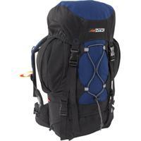 Mochila Cargueira Nautika 200200 Everest 35 Litros Trekking Azul/Preto