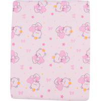Cobertor De Bebê Ursinha Love Rosa
