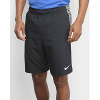 Shorts Nike Flex Woven 2.0 Masculino - Masculino-Preto+Branco