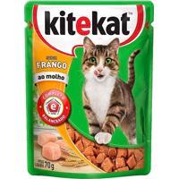 Ração Para Gatos Kitekat Sabor Frango Ao Molho Sachê 70G
