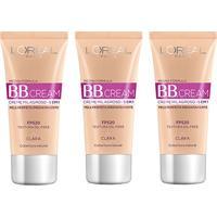 Kit Bb Cream L'Oréal Paris Dermo Expertise Base Clara 30Ml 3 Unidades - Feminino