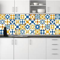 Adesivo Azulejos Geométricos Amarelo (15X15Cm)