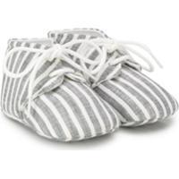 Il Gufo Sapato De Bebê Com Listras - Cinza