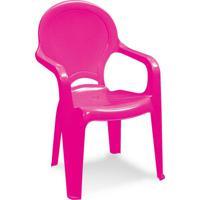 Cadeira Plástica Infantil Tique Taque Rosa