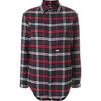 Dsquared2 Camisa Mangas Longas Xadrez - Cinza