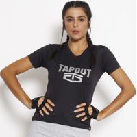Camiseta Dry Tech® - Preta & Cinzatapout