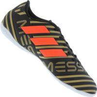 Chuteira Futsal Adidas Nemeziz Messi 17.4 In - Adulto - Preto ce07ea27ef357