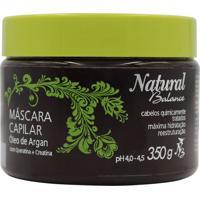 Máscara Capilar Natural Balance Óleo De Argan Com 350 G