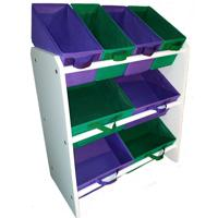 Organizador Organibox De Brinquedo Verde Bandeira Violeta Mã©Dio - Verde - Dafiti