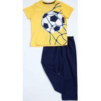 Conjunto Infantil Estampa Futebol Manga Curta Marisa
