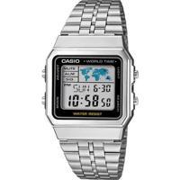 Relógio Casio Vintage Digital A500Wa-1Df Feminino - Feminino-Prata