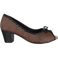 Sapato Peeptoe Com Lacinho Di Santinni 62782014