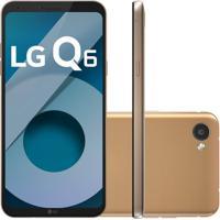"Smartphone Lg Q6 Lgm700Tv Rose Gold 32Gb 5,5"" Dual Chip 13Mp Octa Cor"