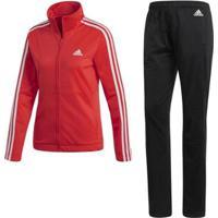 Agasalho Adidas Back2Bas 3S Feminino - Feminino-Rosa+Preto
