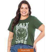 T-Shirt Feminina Easy Tiger Verde Musgo