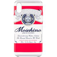 Moschino Capa Para Iphone Xs/X King Of Clothes Com Estampa - Vermelho