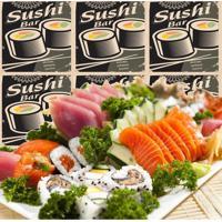 Adesivo Azulejos Sushi Bar (15X15Cm)