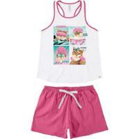 Pijama Feminino Curto Malwee 1000073402 00001-Bran