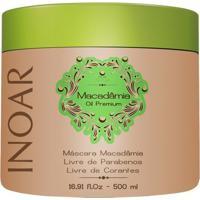 Inoar Macadâmia Oil Premium - Máscara Hidratante 500G - Unissex-Incolor