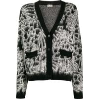 Saint Laurent Cardigan De Tricô - Preto