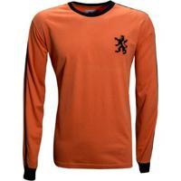 Camisa Liga Retrô Holanda 1978 Longa - Masculino-Laranja