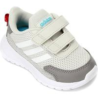 Tênis Infantil Adidas Tensaur Run Velcro Feminino - Unissex-Cinza+Branco