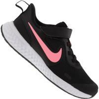 Tênis Nike Revolution 5 Psv Feminino - Infantil - Preto/Rosa