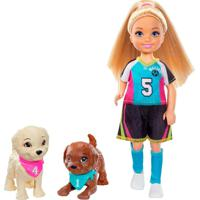 Barbie Chelsea Jogo De Futebol Com Cachorrinhos – Mattel - Kanui