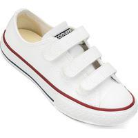 Tênis Infantil Converse All Star Chuck Taylor 3 Velcros - Unissex-Branco