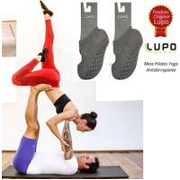 Kit 2 Meias De Pilates Lupo Sport 3286-003 Cinza