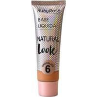 Base Líquida Natural Look Chocolate Ruby Rose L6 - Feminino-Incolor