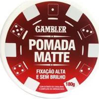 Pomada Matte Alta Fiixação 180G - Gambler - Masculino-Incolor