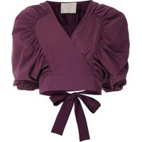 Framed Blusa Cropped Lotus - Roxo