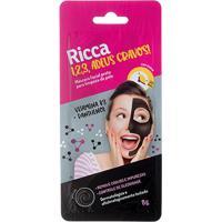 Máscara Facial Preta Para Limpeza Da Pele Ricca - Unissex-Incolor